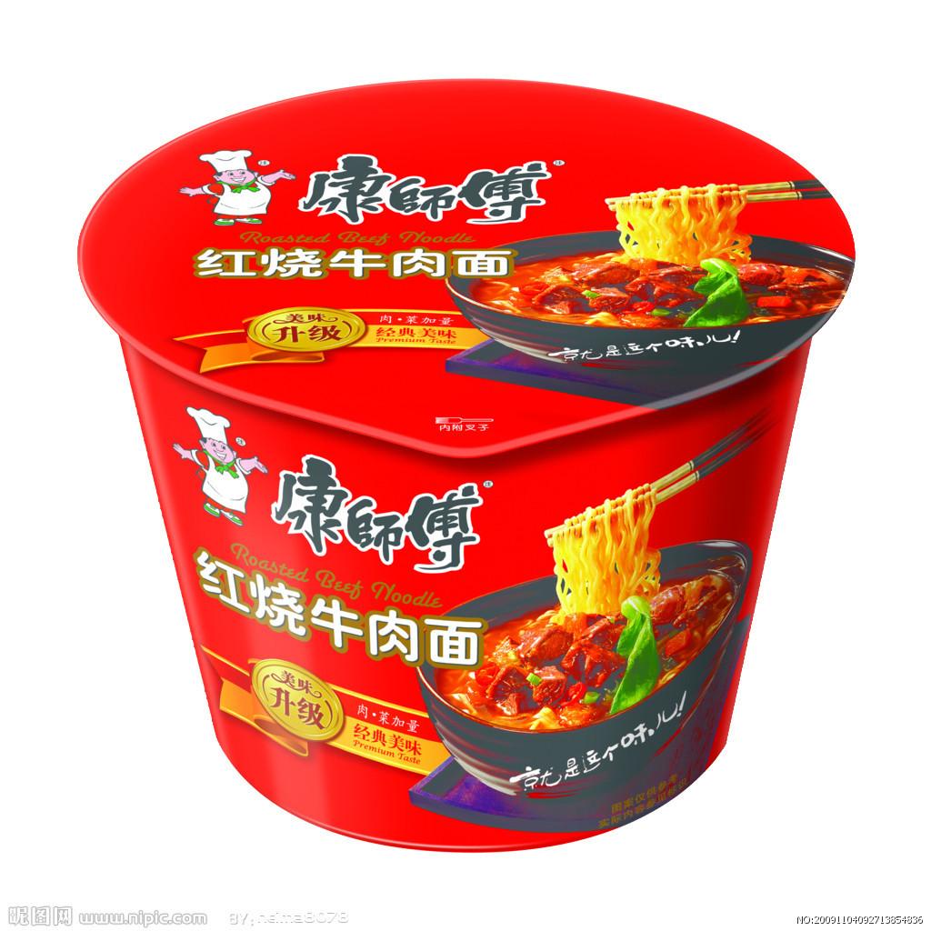 康师傅桶装方便面(红烧牛肉)1*12